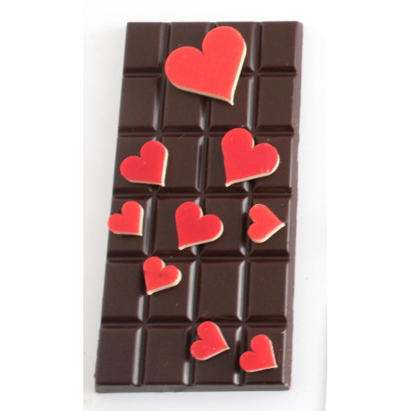 Tablette Saint Valentin Noir - 110g